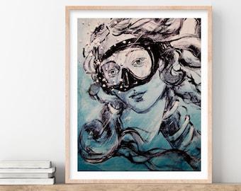 Botticelli's Venus Graffiti Print, Large Wall Art, Prints, Italy Print, Fine Art Print, Graffiti Poster, Gift for Her, Gift for Art Lover