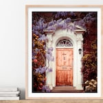 "London Door Surrounded by Flowers, London Photography Print, Travel Photography, Housewarming Gift for Her ""Dream Home"""