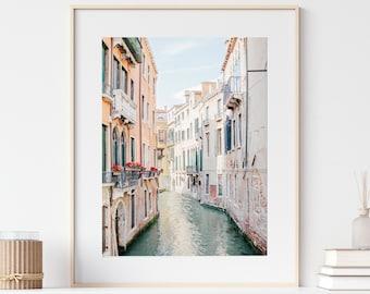 Venice Print, Italy Print, Venice Canal Photo, Pastel Wall Art, City Print, Travel Photography