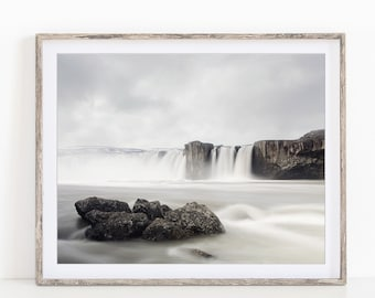 "Godafoss Iceland, Waterfall Photography, Iceland Art Print, Nature Photography, Landscape Print ""Chasing Waterfalls"""