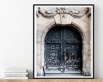 Parisian Door, Paris Photography Print, Chic Paris Wall Art, French Wall Decor, Neutral Wall Art, 8x10 Architecture Print