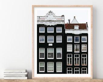 Amsterdam Photography Print, Scandinavian Print, Wall Art Print, Architecture Art Print, Travel Photography - Scandi Style