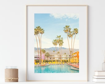 Palm Springs Print, Saguaro Hotel, Swimming Pool Photo, Mid Century Modern Decor, Summer, Wall Art, 8x10 Travel Photography Print