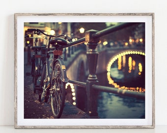 Bicycle Art, Amsterdam Photograph, Bicycle Gift, Travel Photography, Bike Art, Urban Art - Going Dutch