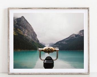 Mountain Photography, Rocky Mountain Landscape Photography Print, Fine Art, Nature Photography, Lake Louise, Horizontal 11x14 Print