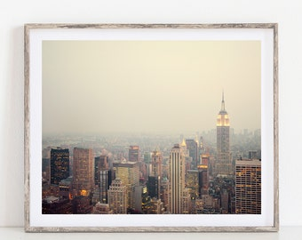 New York City Skyline, New York Art Poster, NYC Wall Art Print, New York Cityscape, Fine Art Print, Manhattan Photography - The View
