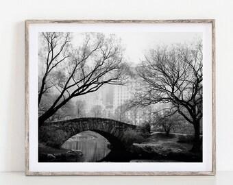 Central Park, New York City, Fine Art Print, Wall Art, New York Photography Print, 8x10 Black and White Print, New York Gift