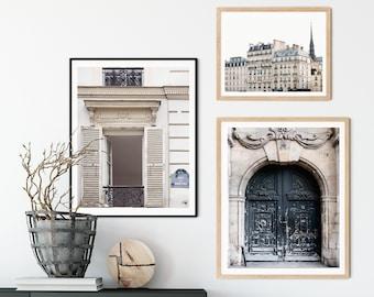 Paris Photography, Paris Wall Art, Set of 3 Prints, Chic Architecture Details, Paris Decor, French Wall Decor, Gallery Wall Set
