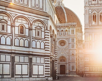"Italy Print, Florence Italy Wall Art, Florence Photography, ""Il Duomo"" at Sunrise, Living Room Wall Decor, Home Decor, Architecture Print"