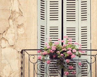 """Rustic French Country Window Print, French Country Decor, Shabby Chic Wall Art, Provence Photography """"Window Treatment"""""""