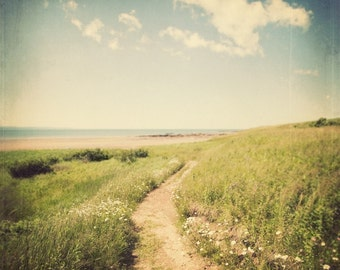 Beach Decor, Beach Photography, Landscape Photography Print, Coastal Decor, Ocean Art, Green, Blue, Wall Art, 8x8 - Summer, Please Return