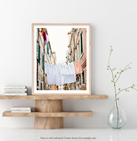 Laundry Room Decor Venice Italy Wall Art Hanging Laundry Etsy