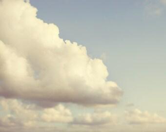 Cloud Print, Nursery Wall Art, Nature Photography, Sky, Cloud Art, Pastel Nursery Decor, Summer Art - The Uncommon Appeal of Clouds