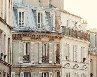 "Paris Photography, Paris Poster, Montmartre Apartment, Paris Print, Fine Art Photography, French Wall Decor, Large Wall Art ""Pale Morning"""