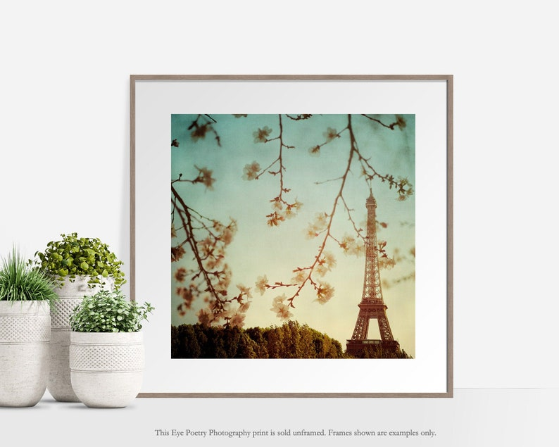 Eiffel Tower Photo Paris France Paris Photography Square image 0