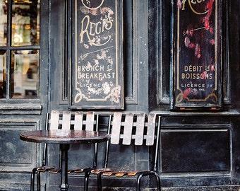 St Regis Paris Cafe Paris Print, Kitchen Decor, Paris Photography, Bistro Chairs, Black Red French Home Decor, Travel Art Prints