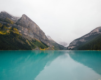 Lake Louise Photograph, Nature Photography, Rocky Mountain Print, Banff Canada, Wilderness, Landscape Print, Wall Decor - Turquoise Paradise