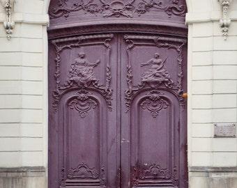 "Purple Paris Door, Paris Photography Print, Architecture Art Print, French Wall Decor, Large Wall Art, Home Decor,Travel Photo ""Ultraviolet"""