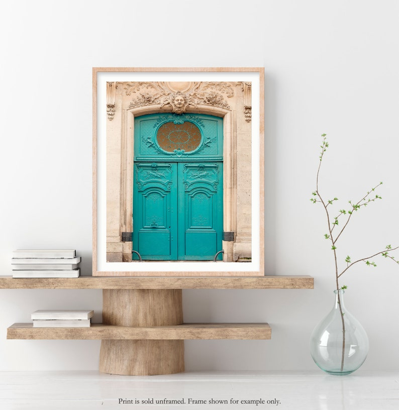 Paris Architectural Detail Photography Print Blue Door Photo image 0
