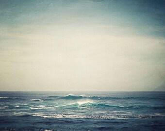 Ocean Photography Print, Summer, Beach Print, Large Wall Art Print, Coastal Art Print, Landscape Photography, Ocean Waves Nature Print