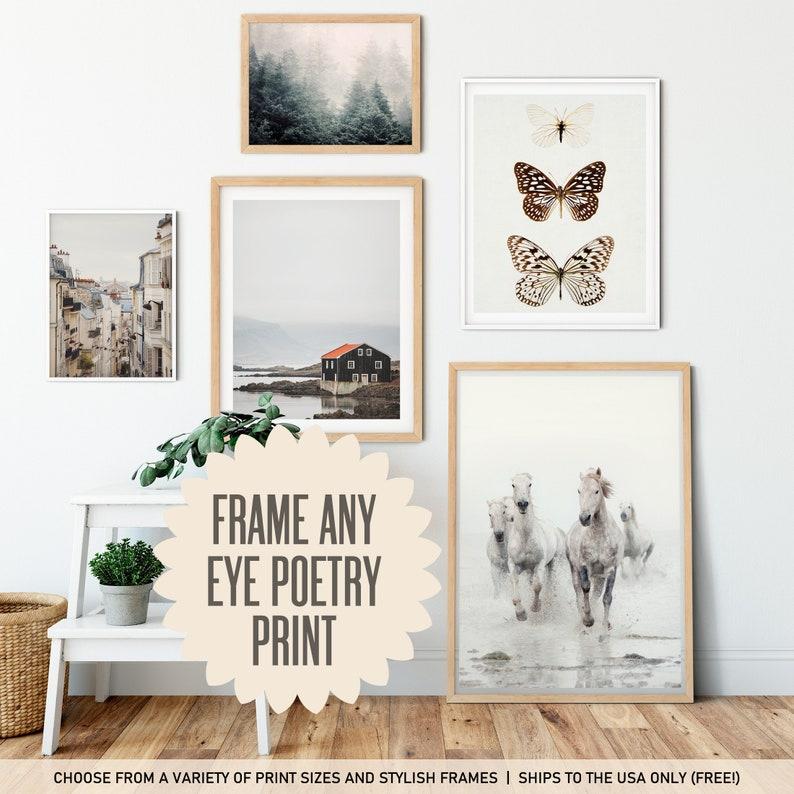Framed Art Pick Any Eye Poetry Photo Custom Framed Wall Art image 0