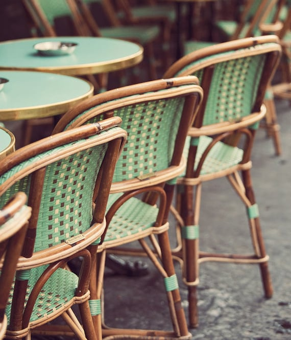 Genial Green Paris Bistro Chairs Kitchen Decor Kitchen Wall Art | Etsy