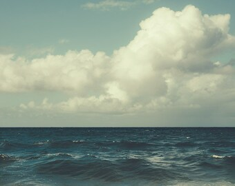 "Ocean Photograph, Nature Photography Print, Beach Decor, Ocean Print, Blue Wall Art, Coastal Decor, Landscape Photography ""Deep End"""