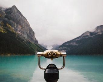 Mountain Art, Landscape Photography Print, Nature Photography, Travel Photography, Wanderlust, Rocky Mountains, Lake Louise Wilderness Decor