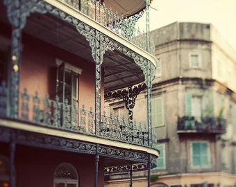 French Quarter Art, Large Wall Art Print, New Orleans Photography, Louisiana, Balcony, Wall Decor Travel Print - Dream on Royal Street