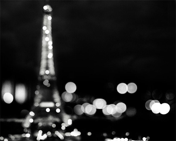 Eiffel Tower Print Abstract Black And White Photography Etsy