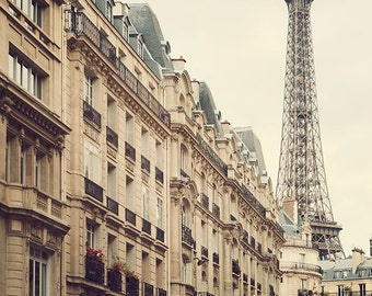 """Eiffel Tower Photograph, Paris Photography Print, Paris Print, Eiffel Tower Picture, Girlfriend Gift for Her """"High Society"""""""