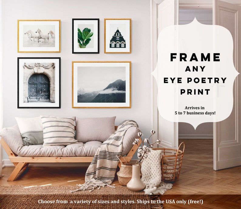 Framed Art Pick Any Eye Poetry Photo Custom Framed Wall Art image 0