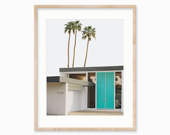Mid Century Art, Palm Springs Print, Wall Art Prints, Architecture, Photography Print, Blue Door, Mid Century Modern, Wall Art, Home Decor
