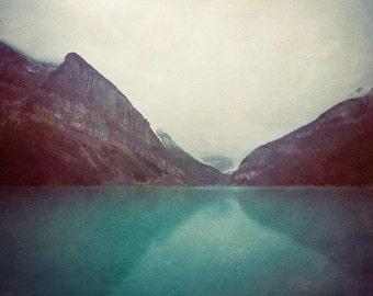 Mountain Photography Print, Wall Art Prints, Blue Wall Decor, Mountain Print, Canada Rockies, Nature Photo, Moody Landscape - Echoes