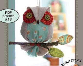 Owl on a Stick - PDF pattern 18