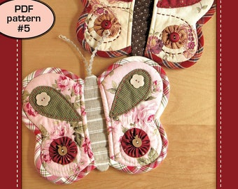 Butterfly Potholder - PDF pattern 5