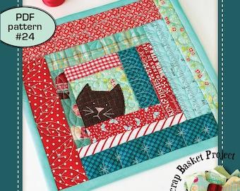 Kitty Potholder - PDF pattern 24