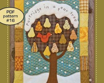 Partridge in a Pear Tree - PDF pattern 16