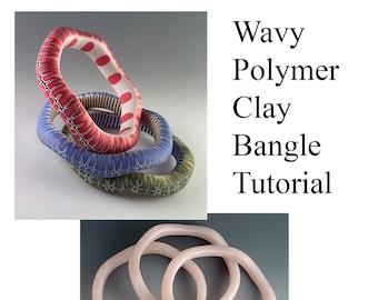 Wavy Polymer Clay Bangle Tutorial