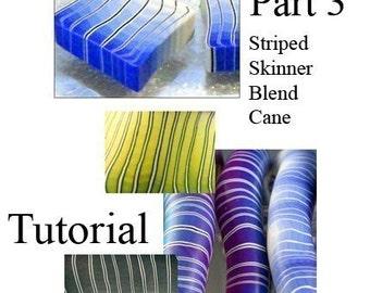 Tutorial - Make a Striped Skinner Blend Cane PART 3