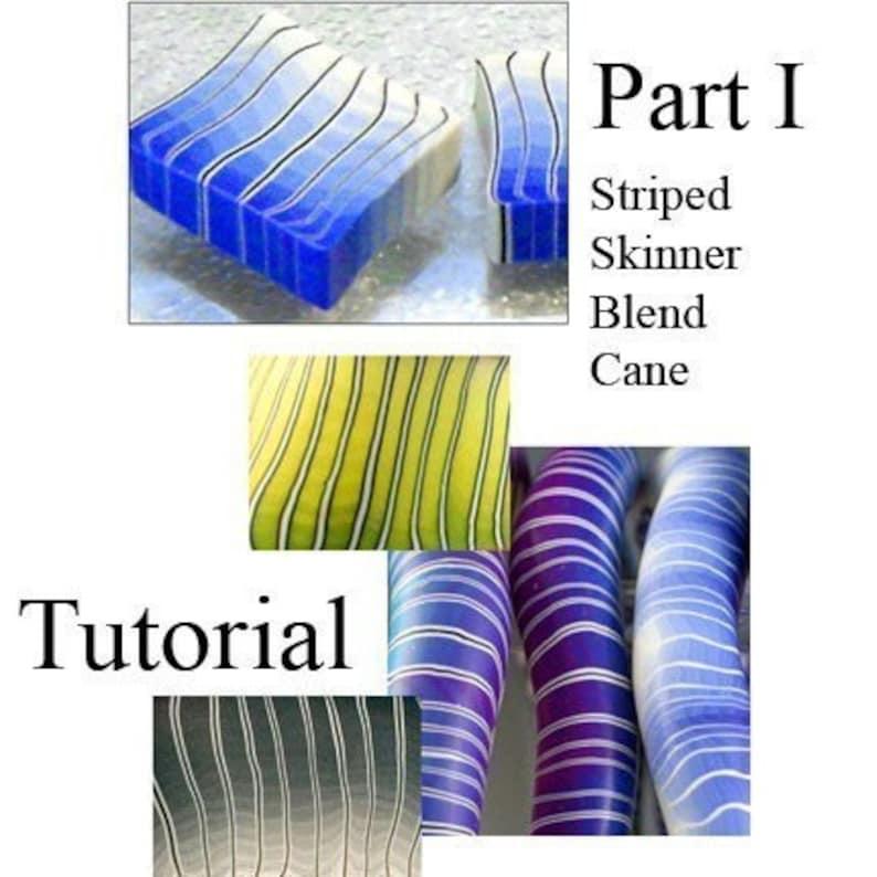 Tutorial  Make a Striped Skinner Blend Cane PART 1 image 0