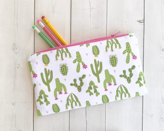 Cactus Pencil Case  Zipper Pouch Teacher Gift Gift For Her Best Friend Gift Planner Pouch Gift For Women Pencil Pouch