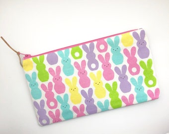 Etsy your place to buy and sell all things handmade bunnies pencil case easter gift ideas zipper pouch gift for her bunny print school supplies make up bag gift under 15 easter gift for kids negle Choice Image