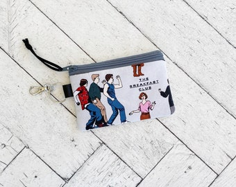 The Breakfast Club Keychain Card Wallet, Small Zippered Bag