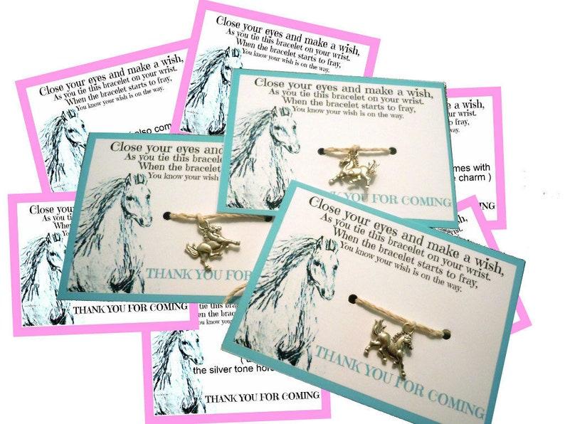 HORSE bracelets equestrian party favor  Western Party image 0