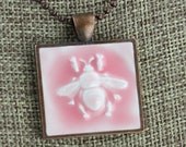 Bee Glazed Porcelain-Look Charm Pendants - Various Colors, Finishes, Patterns