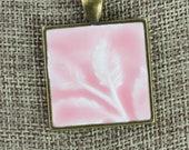 Leaves - Glazed Porcelain-Look Charm Pendant - Various Glaze Colors and Pendant Finishes