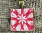Medallion Glazed Porcelain-Look Charm Pendants - Various Glaze Colors and Pendant Finishes