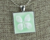 Butterfly Glazed Porcelain-Look Charm Pendants - Various Colors, Finishes, Patterns