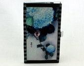 Business Card Case - Japanese Ukiyo-e Print - Sparrow on Hydrangea